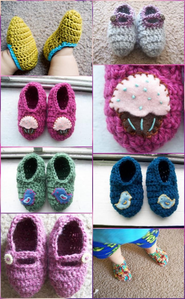 Crochet Baby Booties - Top 40 Free Crochet Patterns | Crocheted baby ...
