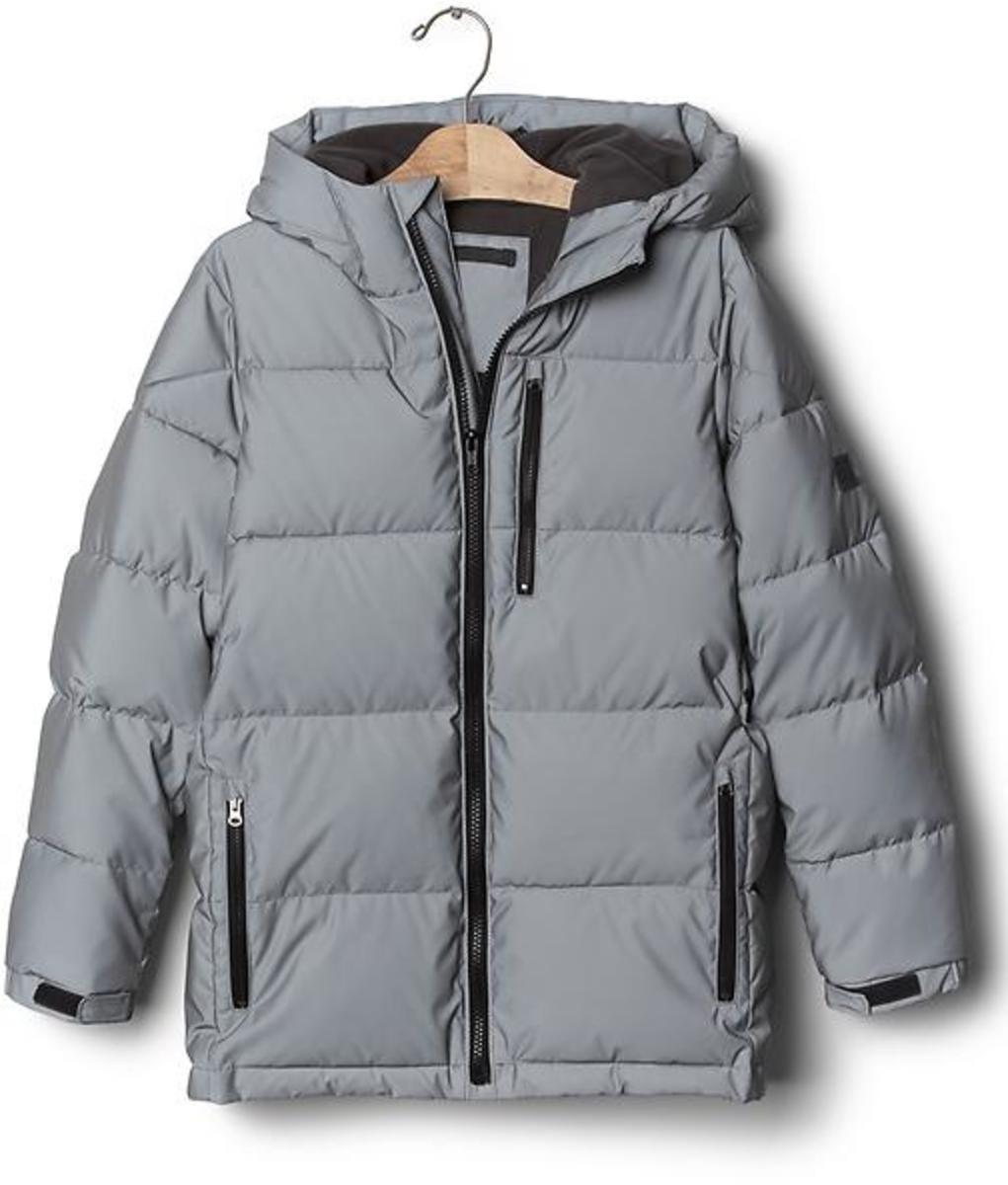 be9027698aeb Gap Boys Coldcontrol Max Reflective Puffer Jacket - Metallic grey ...