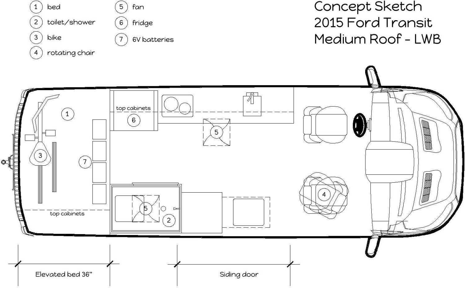 2015 Ford Transit Concept Layout Rv Conversion Van Conversions Rv 39 S Pinterest Ford