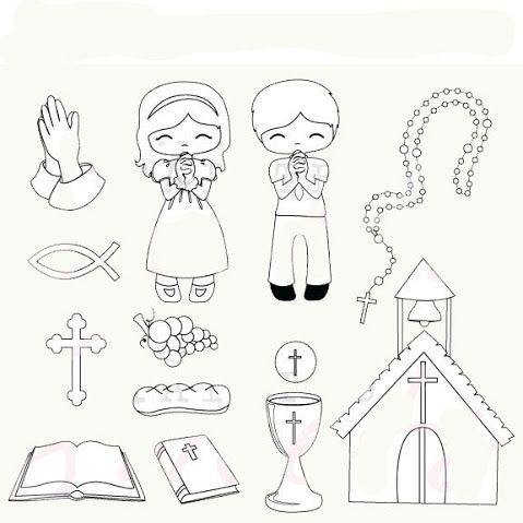 Todorecortables Sueños De Papel Recortables Tarjetas Y Dibujos De Primera Comunión Dibujos De Primera Comunion Clipart Manualidades De Papel Para Niños