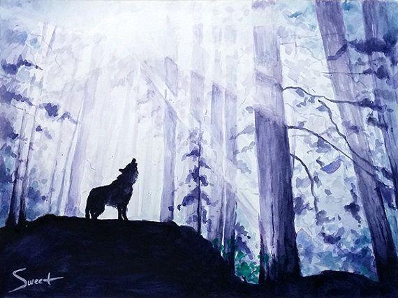 WOLF ART PRINT watercolor wolf artwork lone wolf print | Etsy | Wolf  painting, Animal paintings, Watercolor wolf