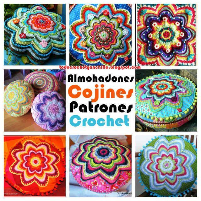Cojines ~ Almohadones muy creativos al crochet | Todo crochet ...