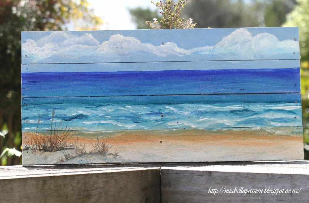 DIY Outdoor Art    | Paint this | Pallet painting, Canvas painting