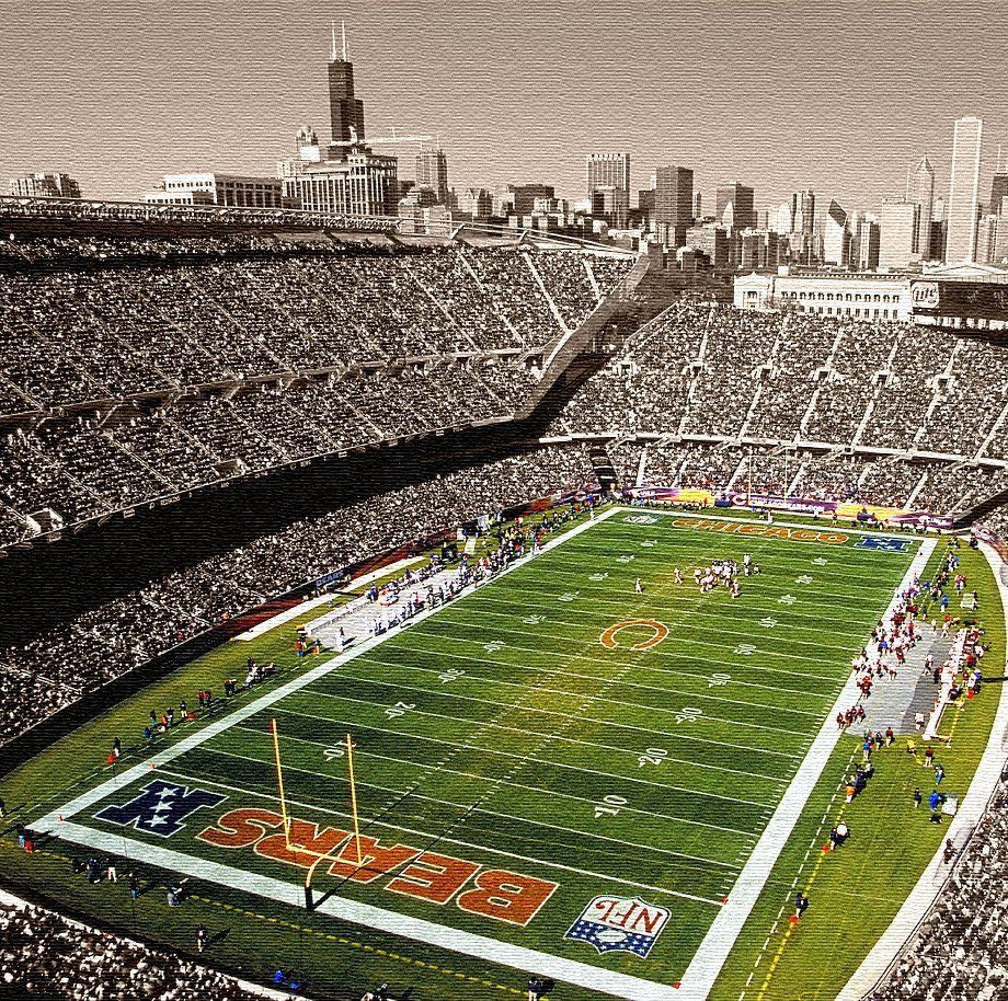 Soldier Field Chicago Bears Canvas | Chicago time | Pinterest