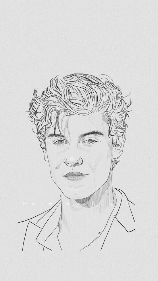 Shon Mendes Fondo De Pantalla De Shawn Mendes Imagenes Dibujos A Lapiz Bocetos Artisticos