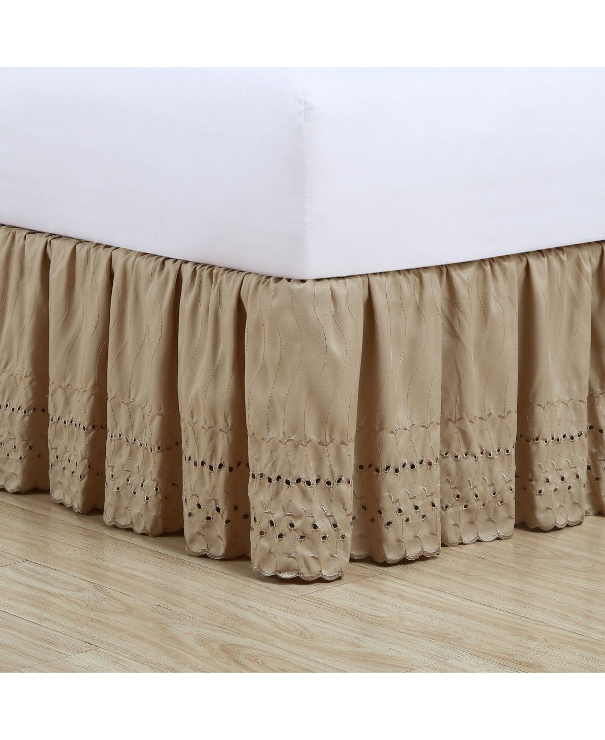 DESIGNER SPLIT CORNER BOTTOM EDGE RUFFLE BED SKIRT 1000 TC EGYPTIAN COTTON KING