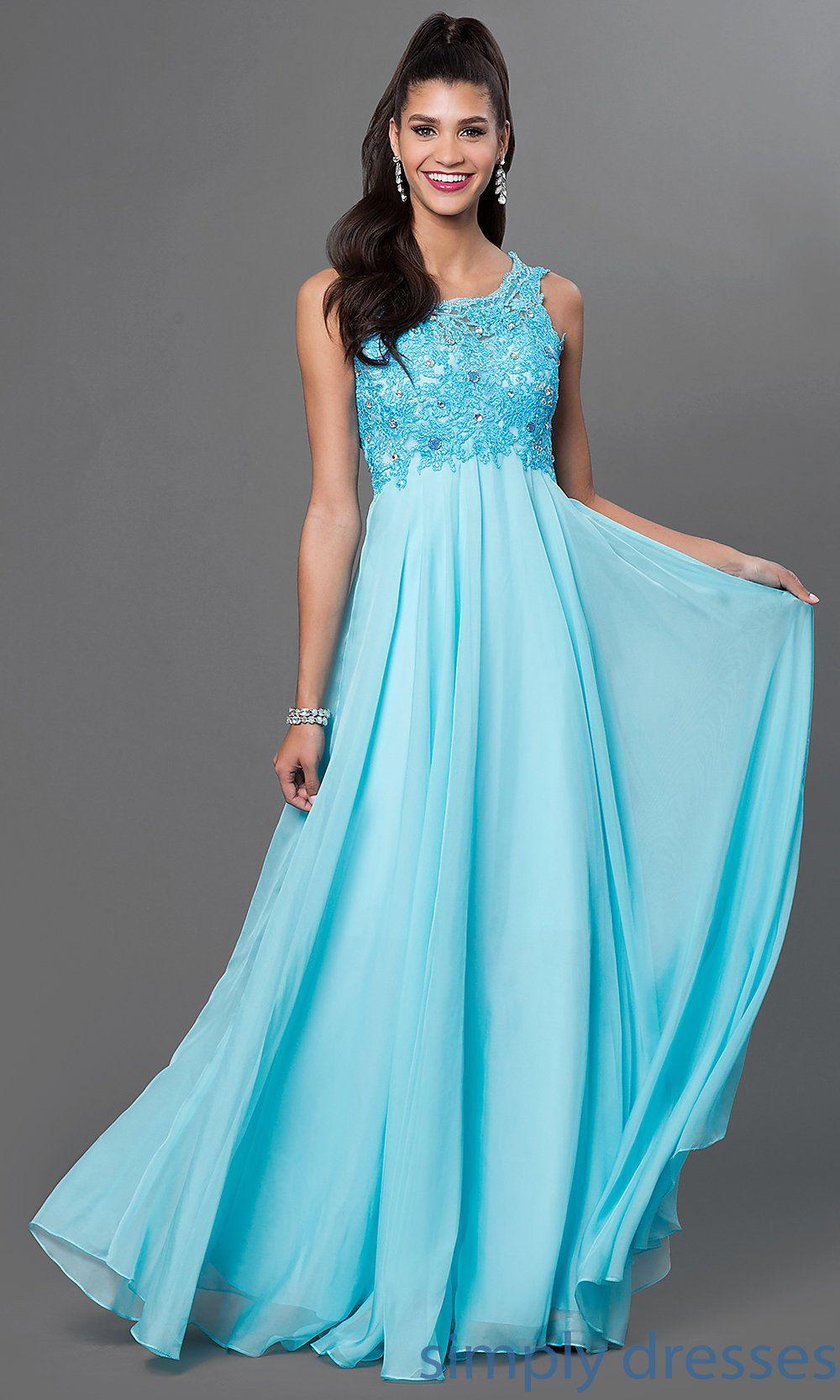 Dresses, Formal, Prom Dresses, Evening Wear: Floor Length Sleeveless ...