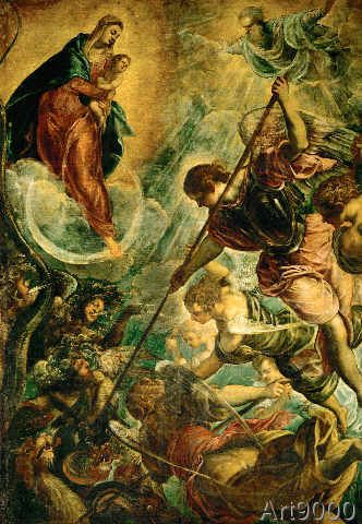 Jacopo Robusti Tintoretto - Archangel Michael fighting with Satan