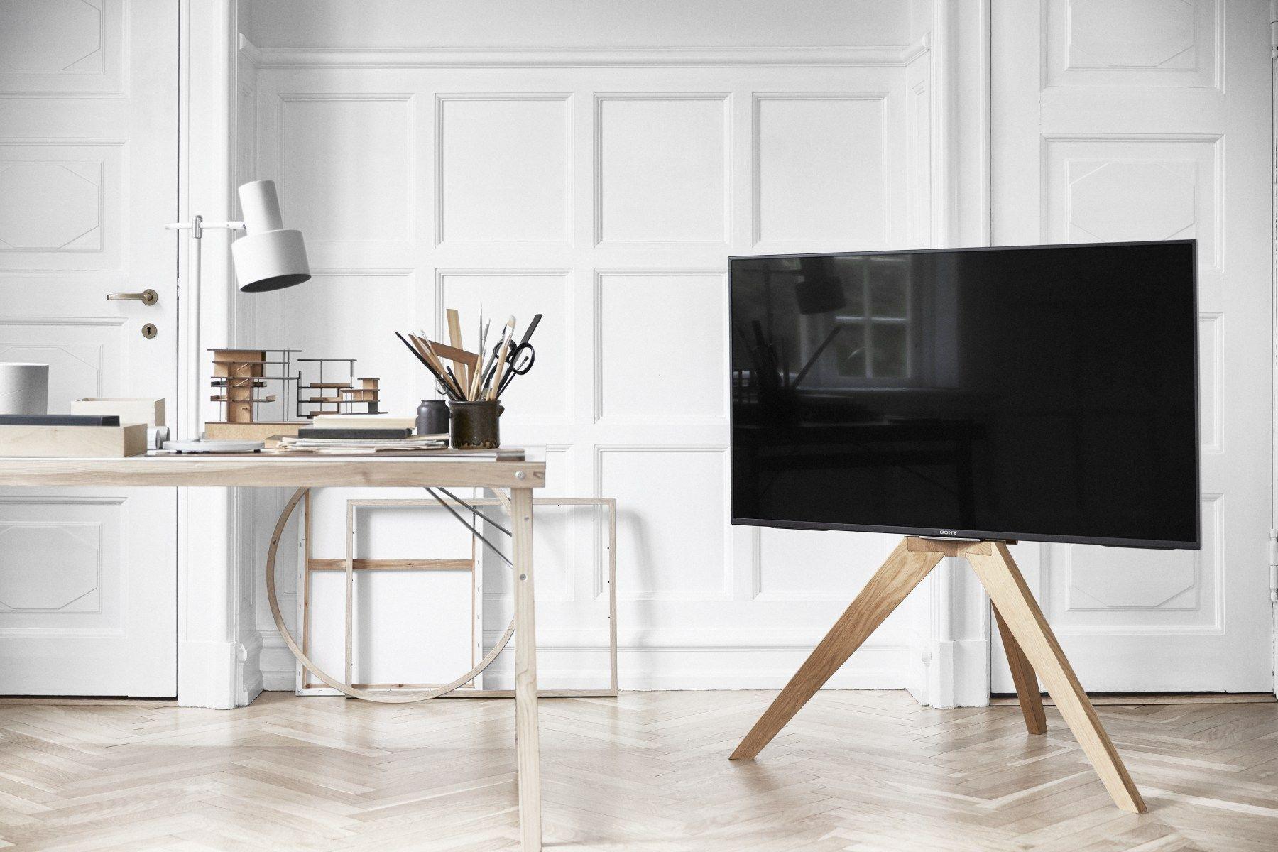 finest selection 8e383 54837 NEXT OP1 TV Floor Stand (Light Oak) | Home in 2019 | Tv ...