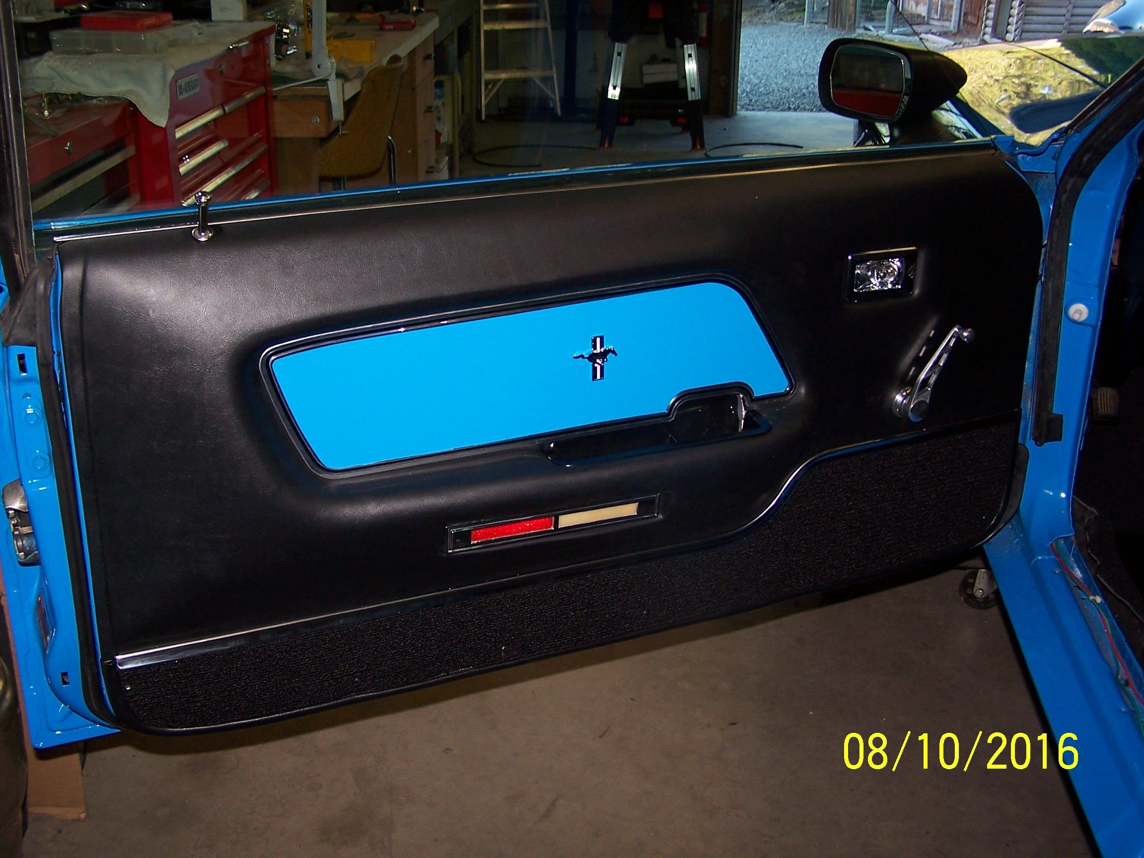side panel door tan rh coupe mustang right convertible insert