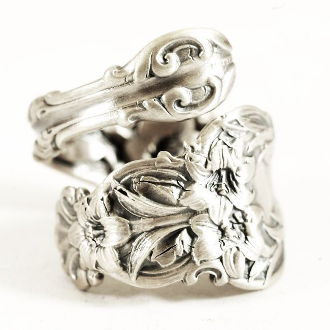 Easter lily spoon ring sterling silver art nouveau whiting lily easter lily spoon ring sterling silver art nouveau whiting lily floral spoon ring handmade gift for her custom ring size by spoonier on etsy negle Choice Image