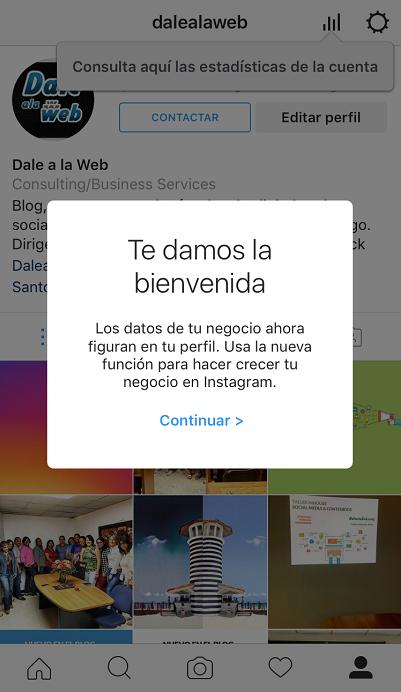 Aquí Te Explico Los Sencillos Pasos Para Convertir Tu Perfil De Marca En Instagram En Uno De Empresa Con Estadísticas Actualizació Perfil Instagram Empresa