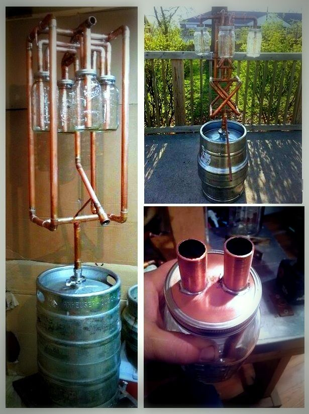 This is a great example of a Pot thumper keg still it\'s homemade ...