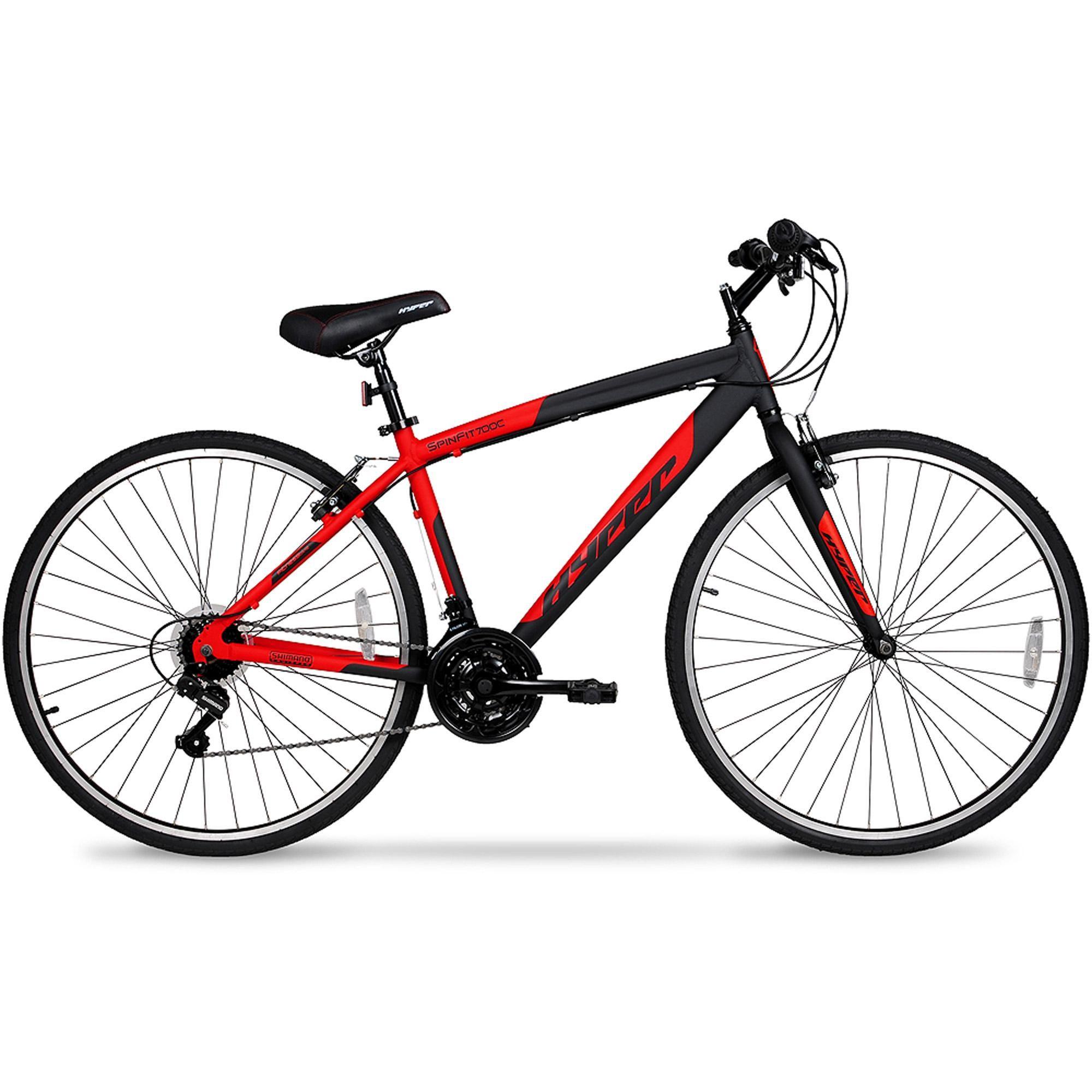 700c Hyper Spinfit Men S Hybrid Bike Red Walmart Com Hybrid