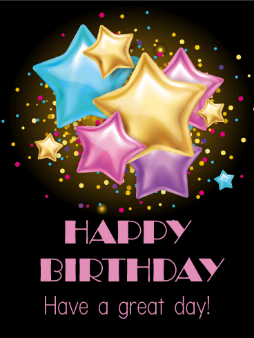 Send Free Twinkle Stars Happy Birthday Card To Loved Ones On Amp Greeting Cards