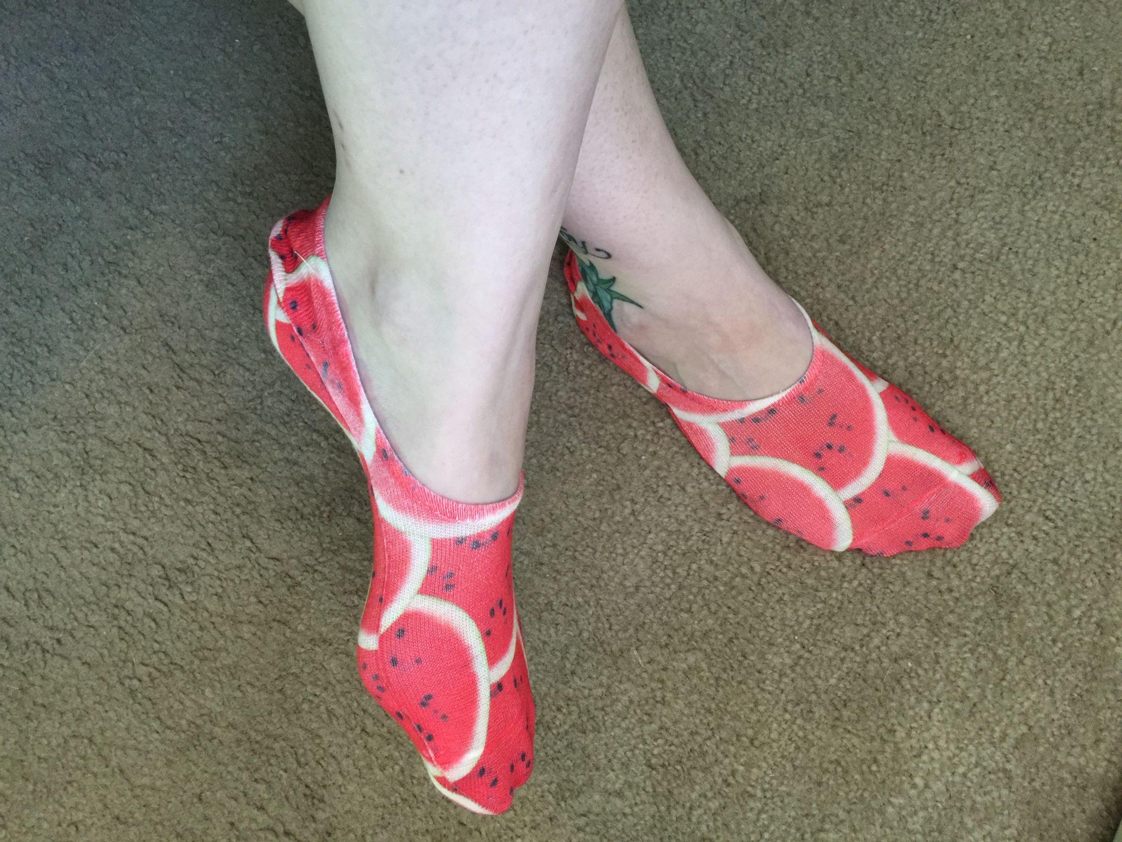 My watermelon socks