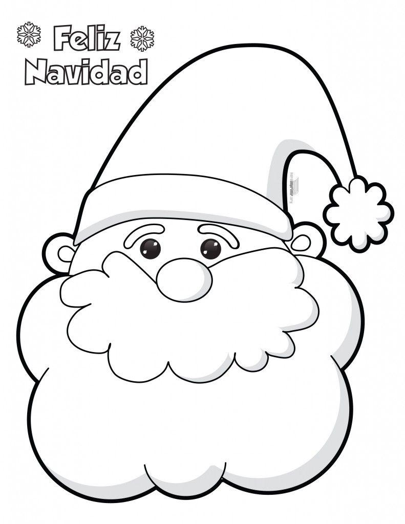 Santa Claus Para Colorear E Imprimir Santa Claus Manualidades
