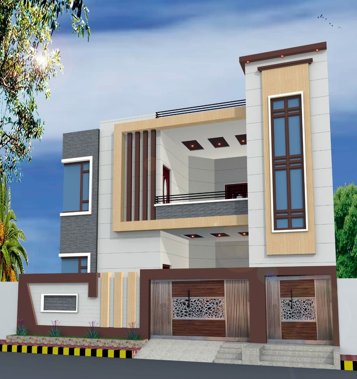 New Home Designs Latest Modern Bungalows Exterior: Pin By Vignesh Kumar On Front Elevation Designs