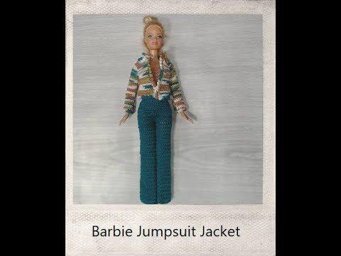 Crochet Barbie Jacket Tutorial Youtube Barbie Kleertjes