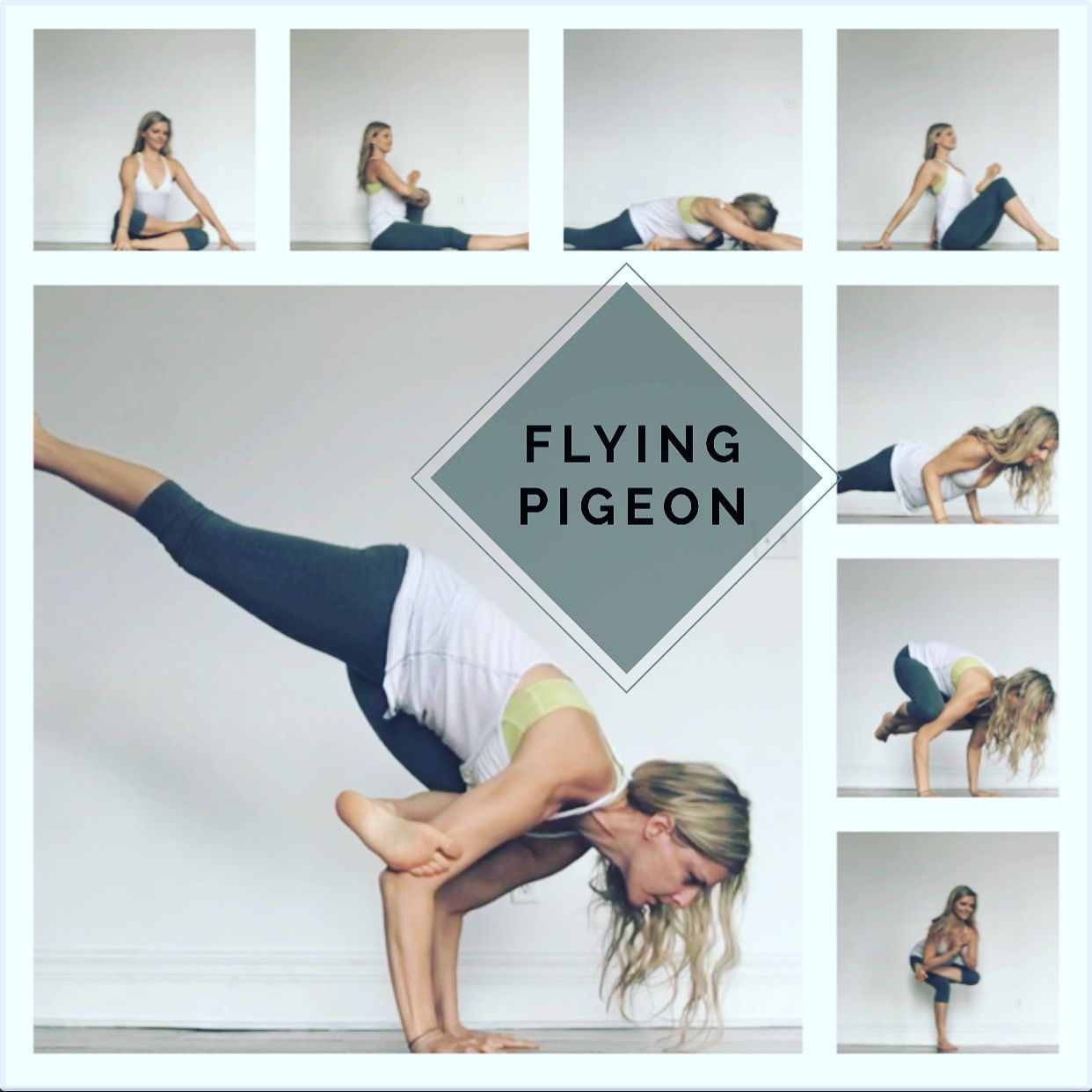 Use this sequence to prep for flying pigeon pose. | Yoga ...