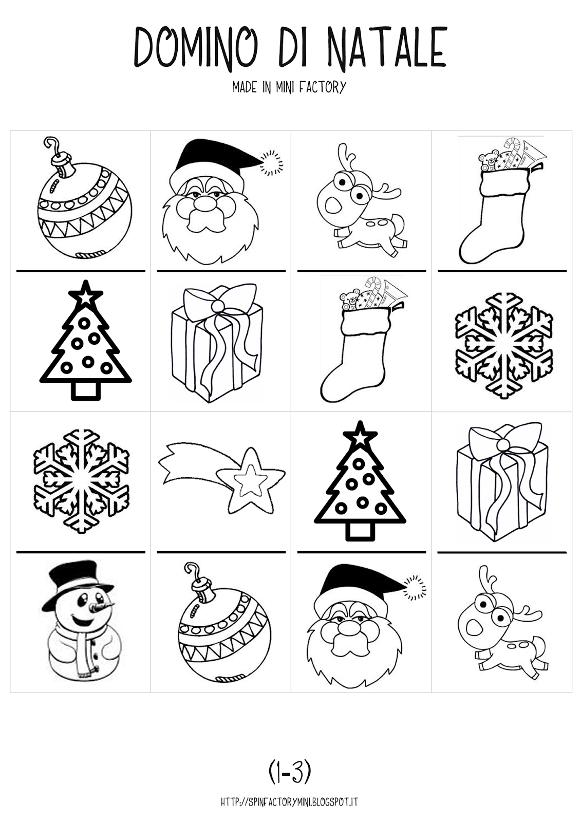 Christmas Domino Free Printables
