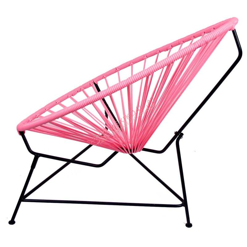 Silla Acapulco Mini  Rosa  Decoracin  Chair Furniture y Home Decor