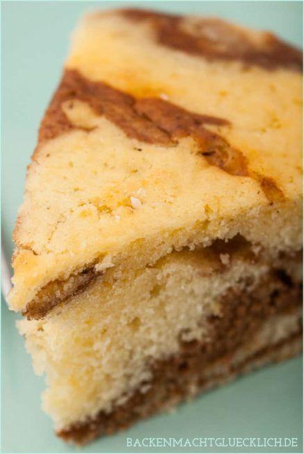 Zebrakuchen mit Sahne statt Butter | Backen macht