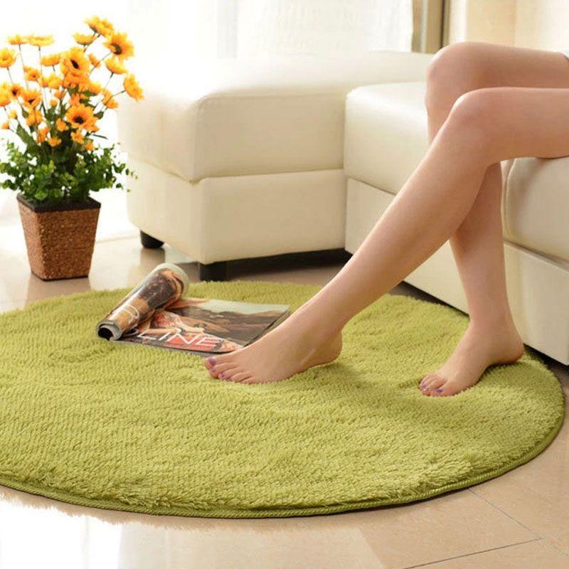 House Interior Round Shape Soft Home Furnishing Living Room Carpet