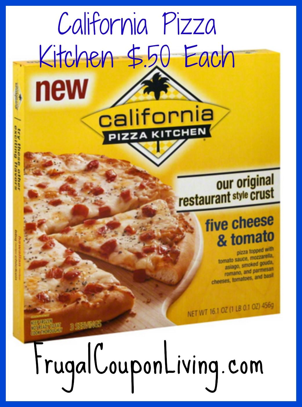 California Pizza Kitchen Frozen Pizza $.50 From $5.49 #target #pizza  #calforniapizza