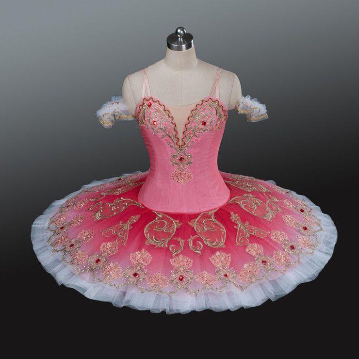 Professional Pink Peach Ballet Tutu Sugar Plum Fairy Sleeping Beauty Costume MTO