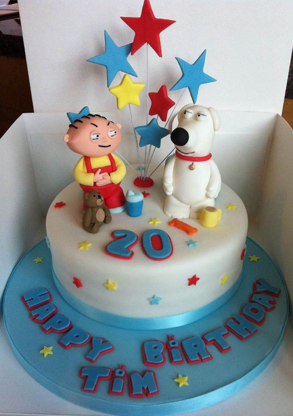 Awe Inspiring Family Guy Stewie And Brian Cake Birthday Cakes For Men Personalised Birthday Cards Veneteletsinfo