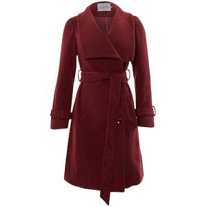 Soaked in Luxury Coat Collar Red