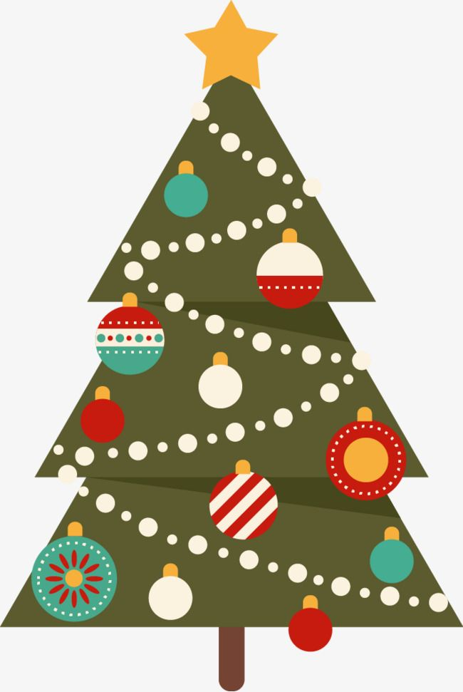 Vector Arbol De Navidad Arbol De Navidad Flat Decoracion