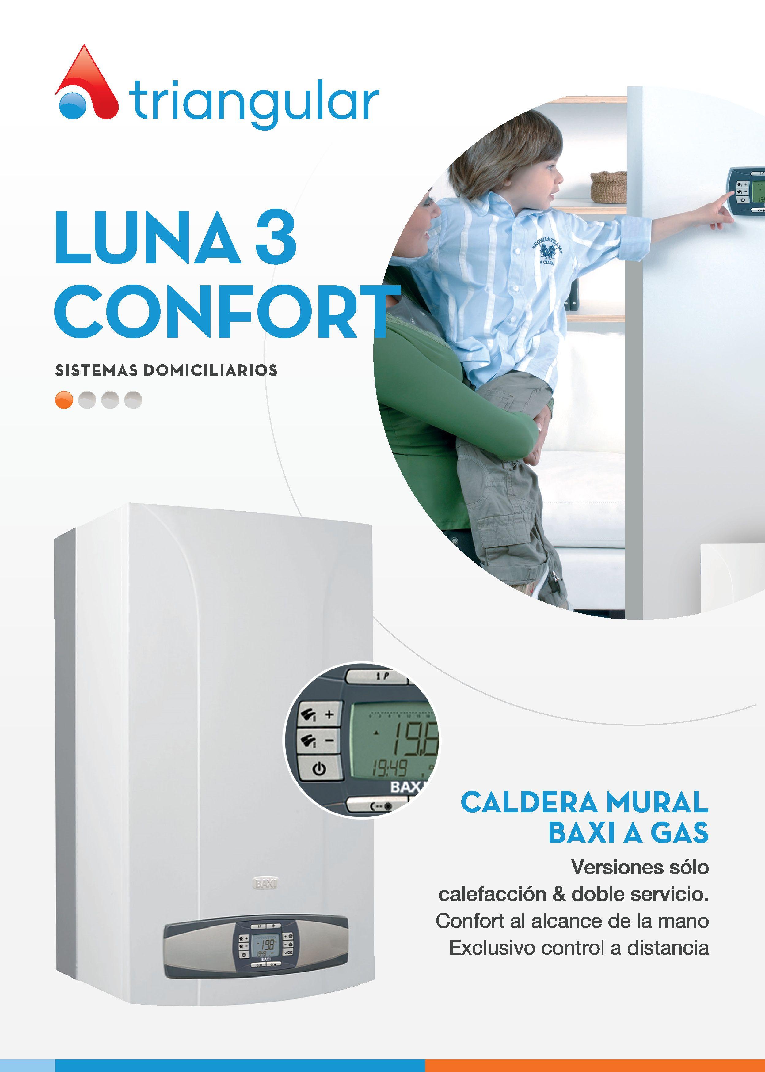Luna 3 confort caldera mural para calefacci n a gas for Caldera mural a gas