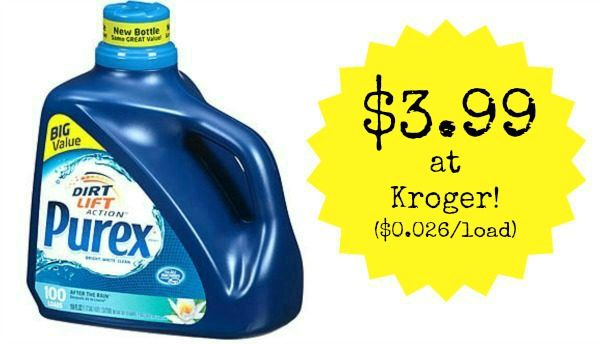 Kroger Purex Liquid Laundry Detergent 150 Oz As Low As 3 99