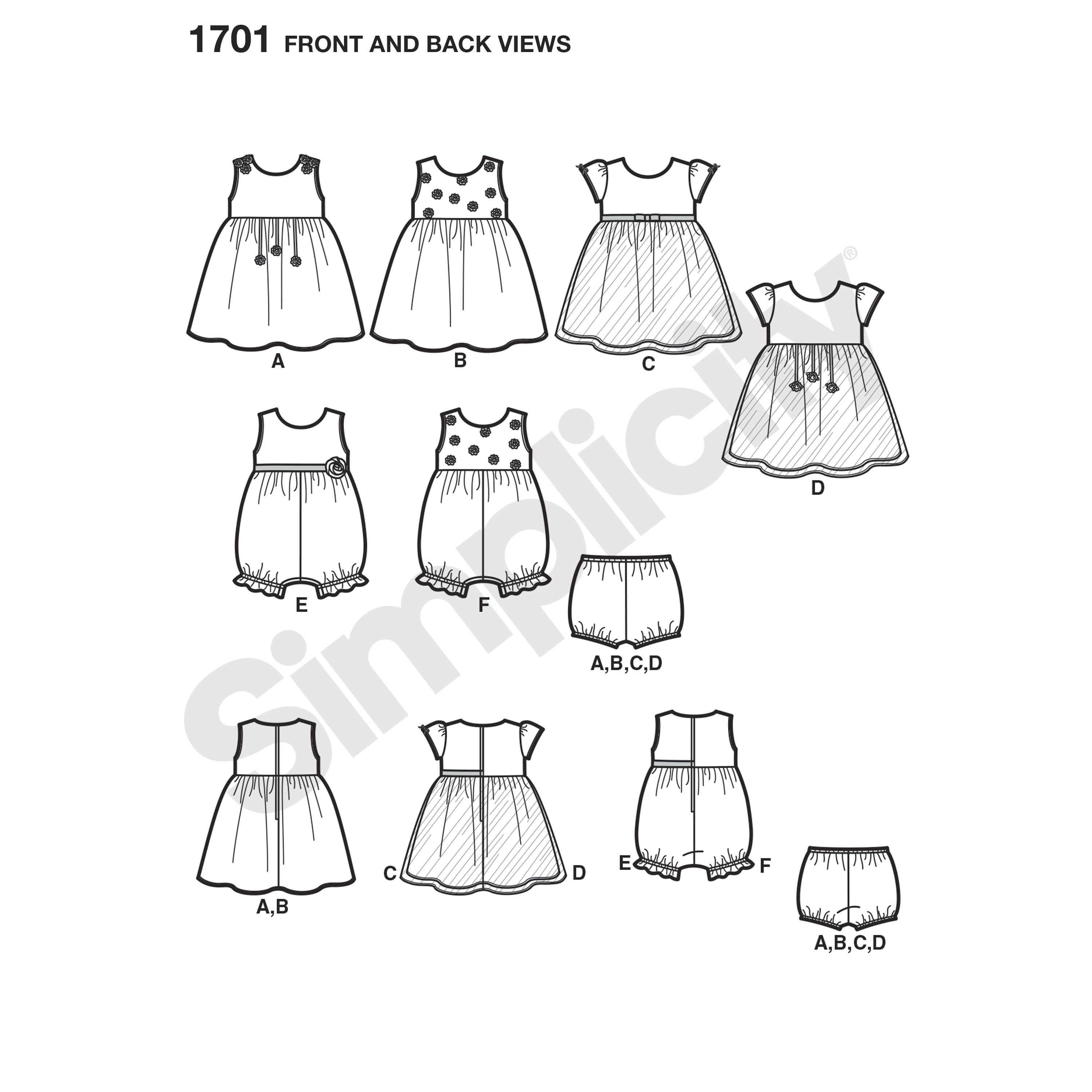 Babies' dress with or without sleeves and sleeveless
