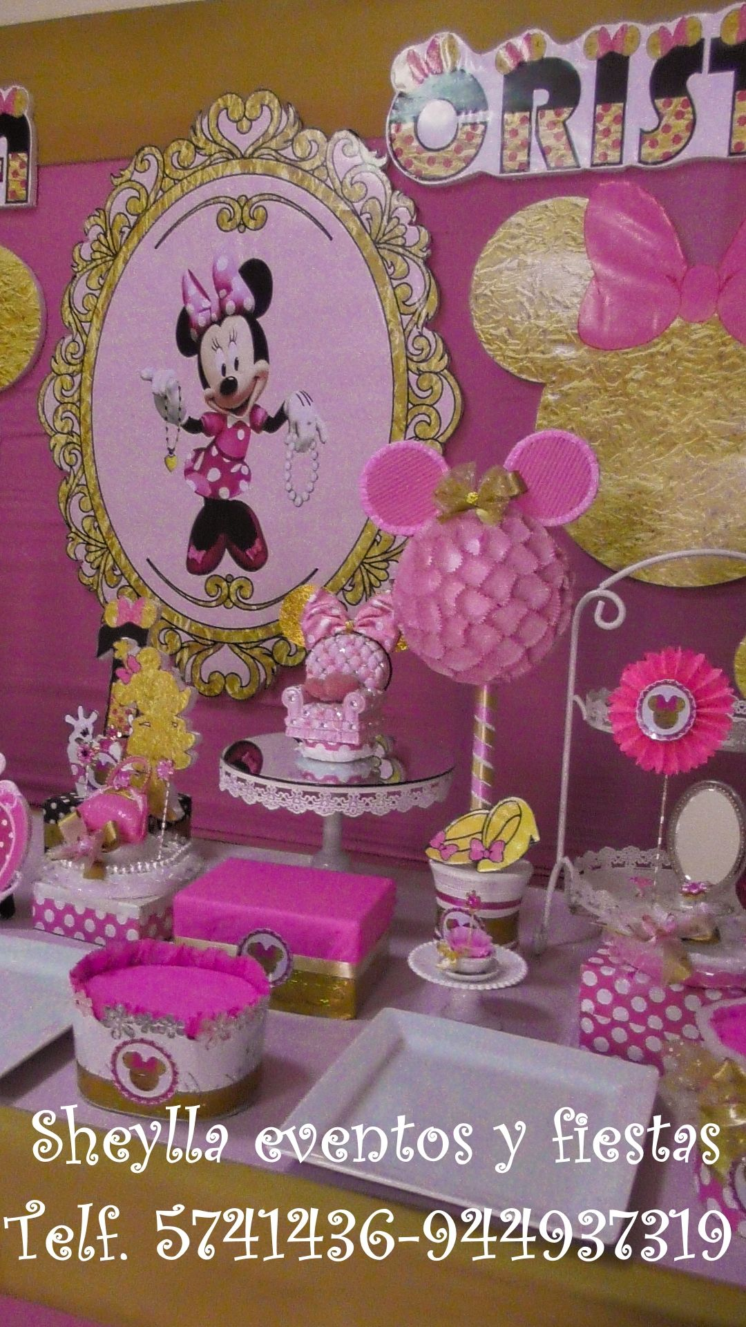 Minnie Gold Centerpieces Decoracion Decoracion Minnie