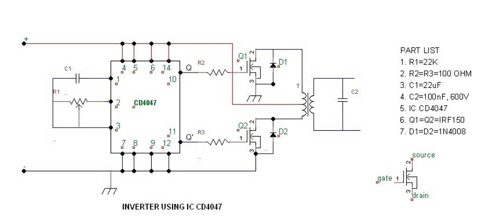 The Purpose To Build A Simple 100 Watt 500 Inverter Circuit 10000 Wiring Diagram Is Apply