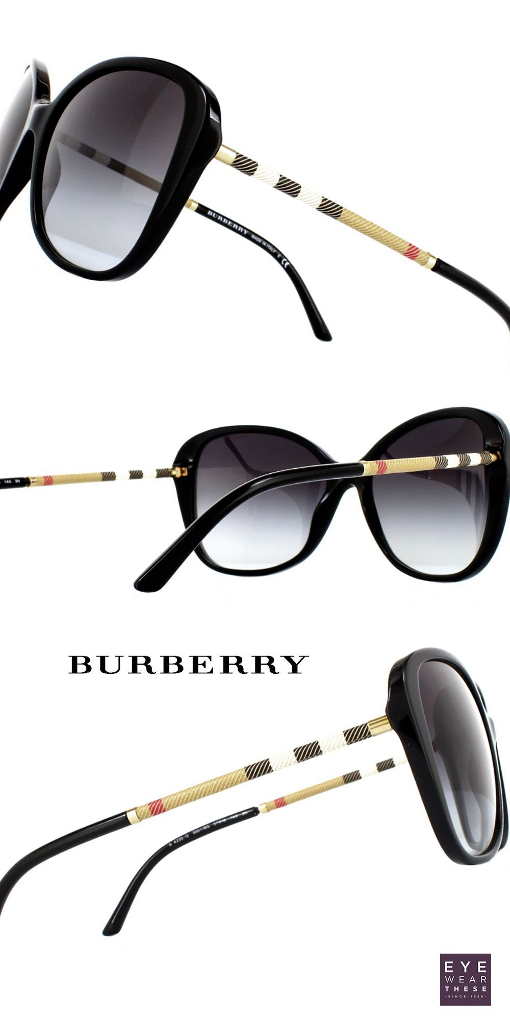 728797fd400f Premium Burberry sunglasses for women with with beautifully wrapped leather  temples in the house check design #Burberry #fashion