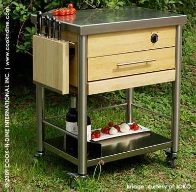 Teppanyaki Grill Cart By Cds Design Joko Domus Italy The Whole Top Is The Cooktop Stainless Steel Solid Hor Outdoor Grill Backyard Remodel Outdoor Kitchen