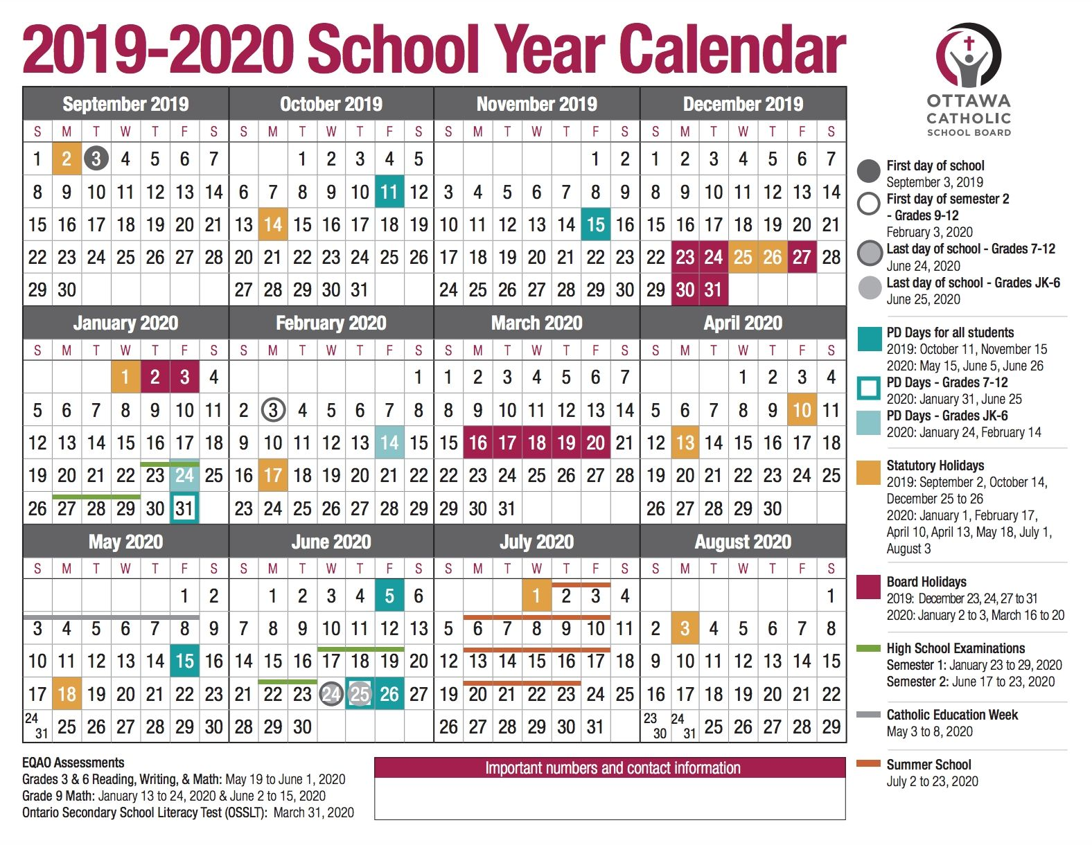 Dashing 2020 Ontario Calendar With Holidays Together With The Tentative Date For All Those Exams Tentative Dates For Telling Release