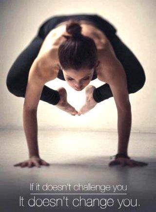 one of my yoga goals is to master the bakasana arm balance