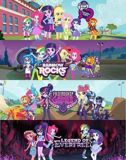 All Equestria Girls Movies Rainbow Rocks Friendship Games And Legend Of Everfree