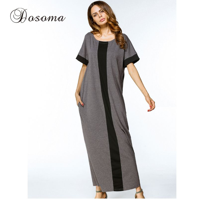 e6faacff Casual Muslim Cotton Abaya Maxi Dress Women Long Robe Loose Kimono Summer  Moroccan Burka Kaftan Hijab Islamic Middle East Arab #Hijab dress