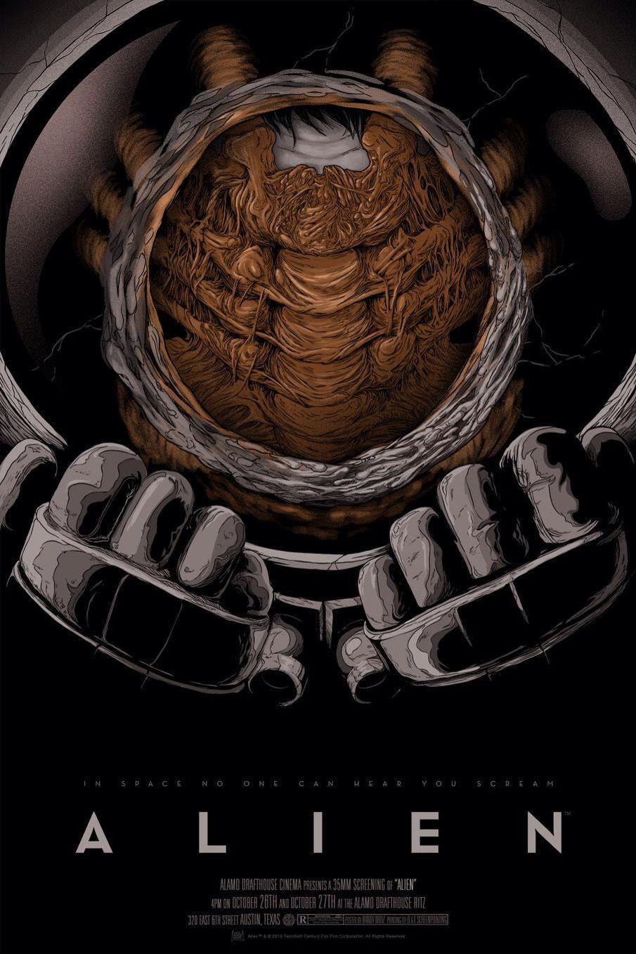 alien movie poster canvas