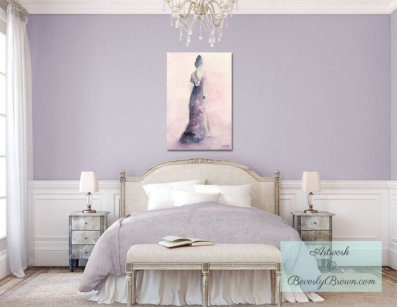 Lavender Bedroom with Fashion Art - Artwork © Beverly Brown   www ...