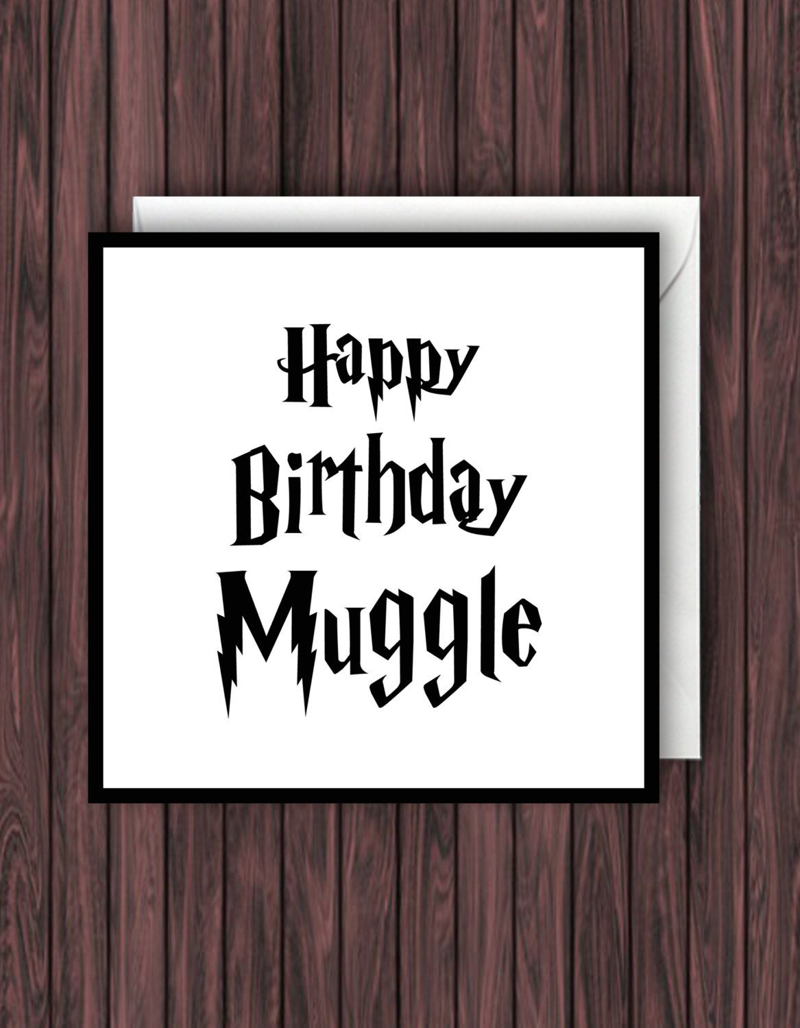 Happy Birthday Muggle Harry Potter Greeting Blank Card By TheDandyLionDesigns On Etsy