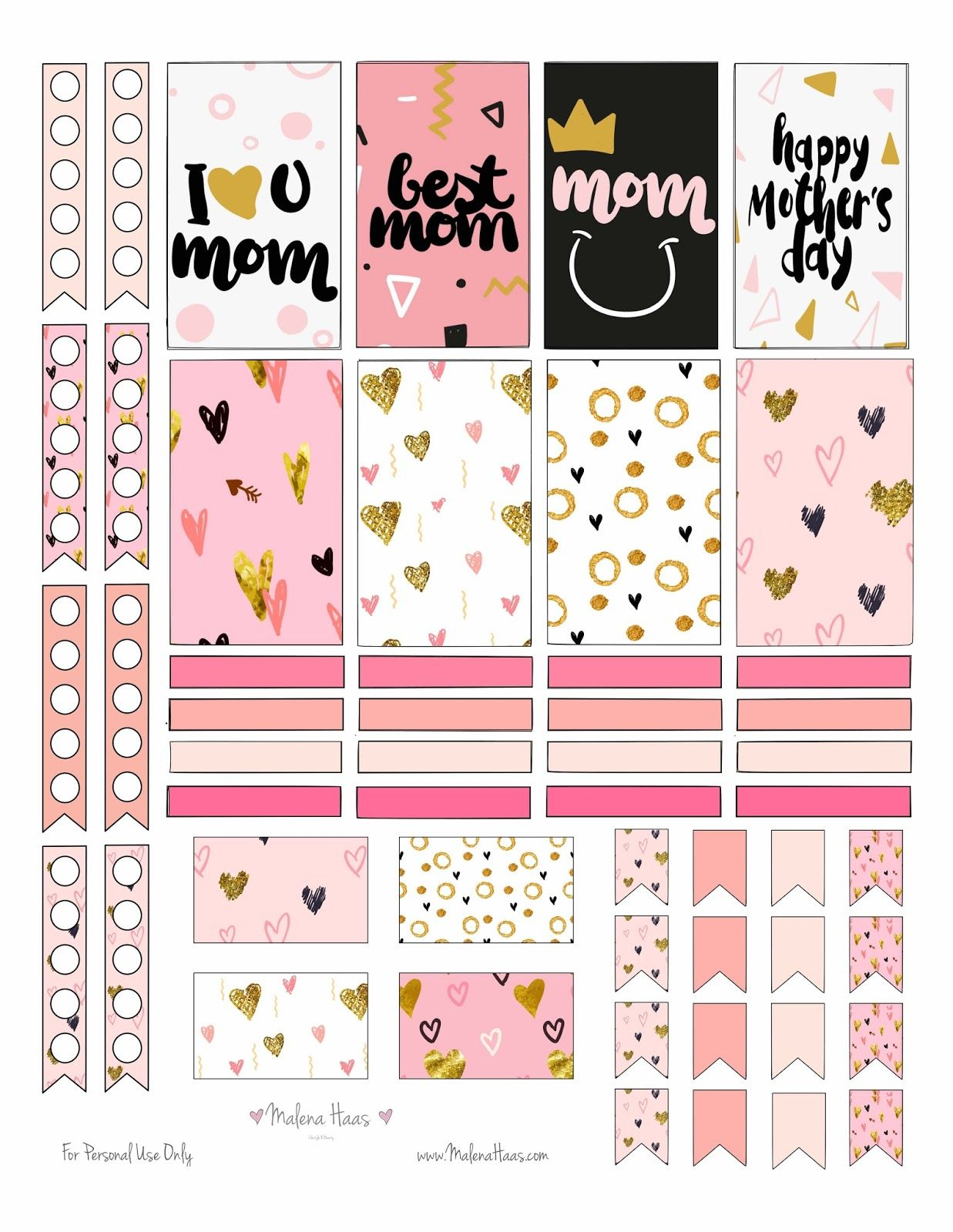 ❤FREEBIE Friday❤ Mother\'s Day Stickers | Kalender