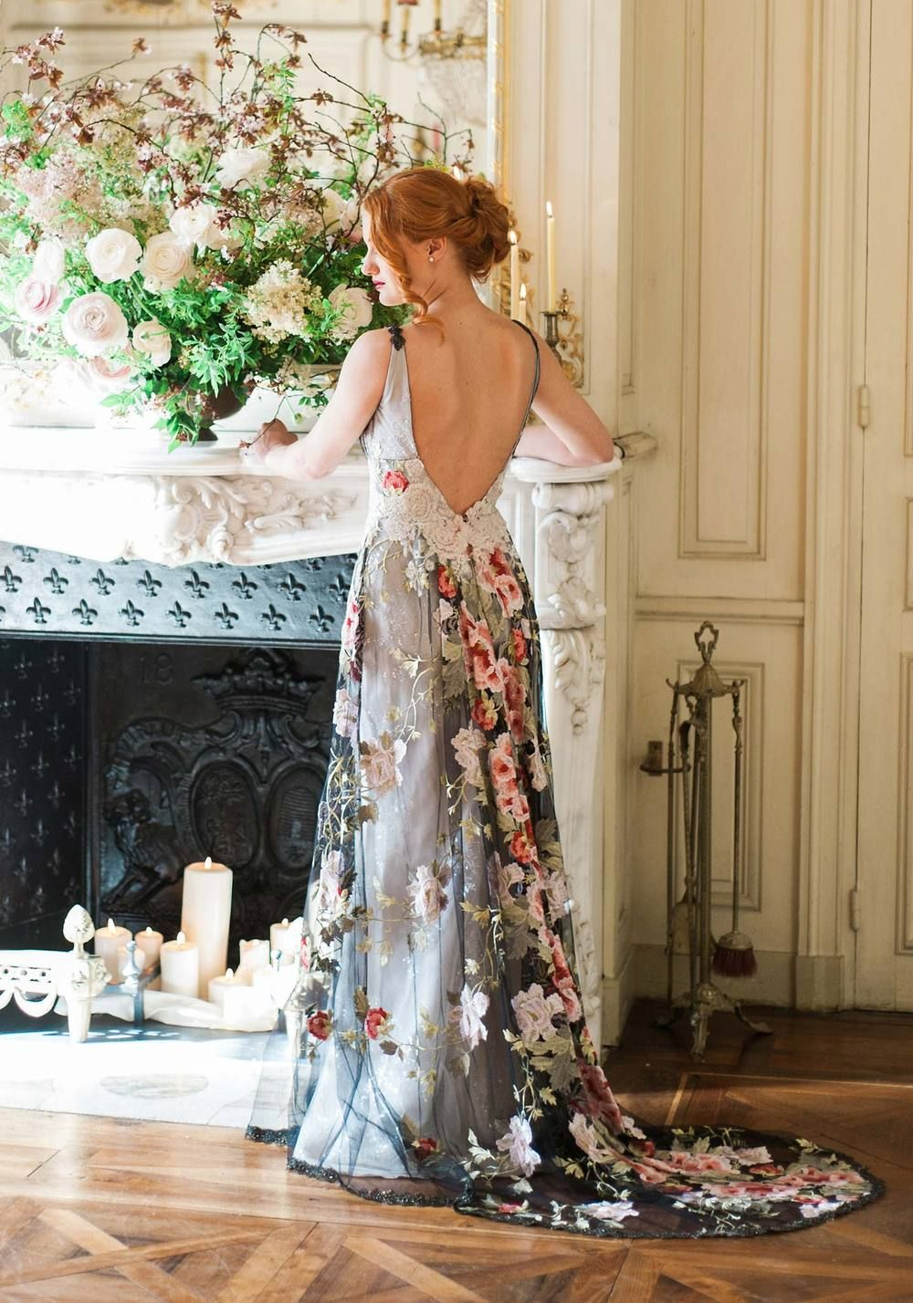 e88b8fd84d6 36 Floral Wedding Dresses That Are Incredibly Pretty