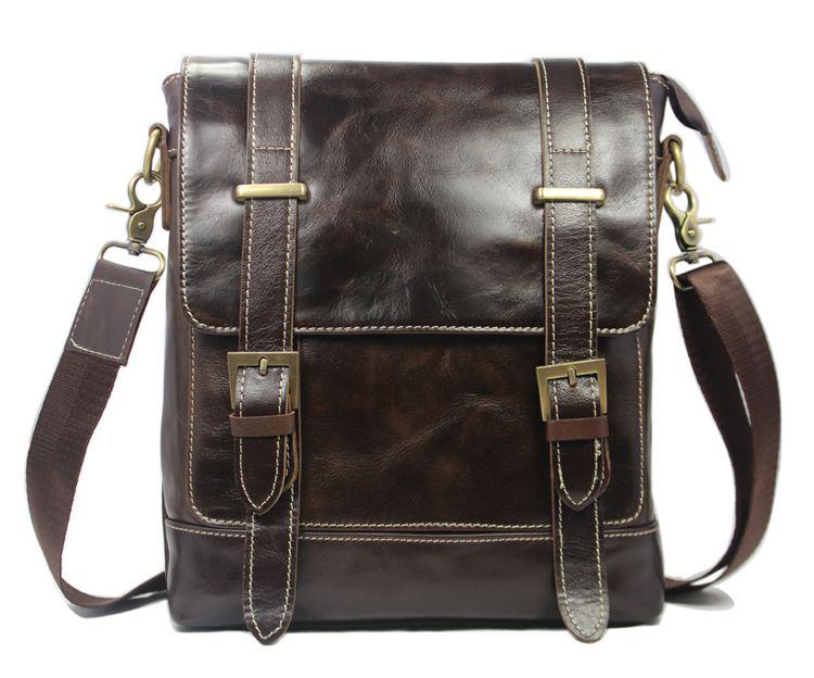 "ModernManBags.com - ""Napa"" Men's Top Grain Leather Vertical Messenger Bag - Dark Brown, $79.99 (http://www.modernmanbags.com/napa-mens-top-grain-leather-vertical-messenger-bag-dark-brown/)"